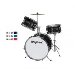 Hayman Junior Series 3-piece drum kit HM-33-BK