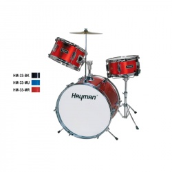 Hayman Junior Series 3-piece drum kit HM-33-MR