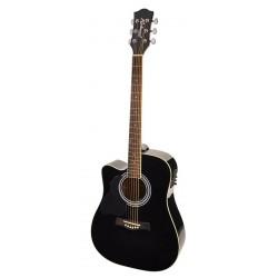 Elektro-akustiskā ģitāra Richwood RD-12LCE-BK (kreiļiem)