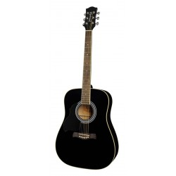 Akustiskā ģitāra Richwood RD-12L-BK (kreiļiem)