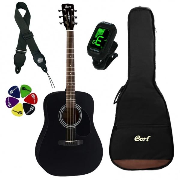 Cort Acoustic Guitar Kit AD810 BKS-SET