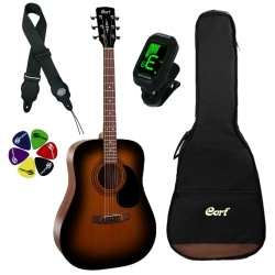 Cort Acoustic Guitar Kit AD810 SSB-SET