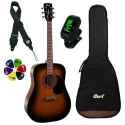 Akustiskās ģitāras komplekts Cort AD810 SSB-SET