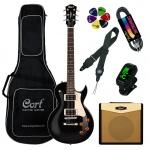 Elektriskās ģitāras komplekts Cort CR100BK-Set