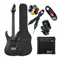 Elektriskās ģitāras komplekts Cort CGP-X1 BKS