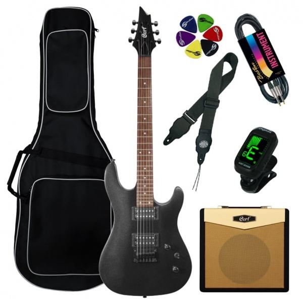Cort Electric Guitar Kit KX100-BKM-Set