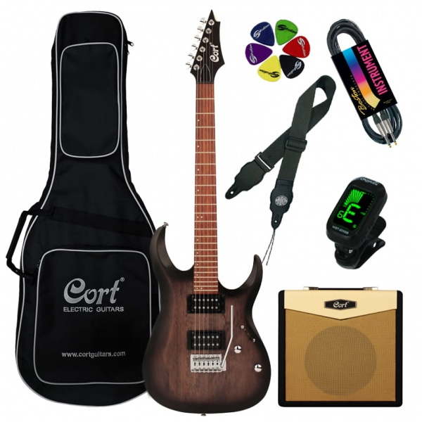 Cort Electric guitar Cort X100-OPKB-Set