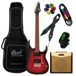Cort Electric guitar Cort X100-OPKB-Set