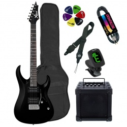Elektriskās ģitāras komplekts Cort CGP-X1 BK