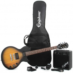 Elektriskā ģitāra Epiphone Les Paul Player Pack VS