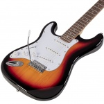 Soundsation left handed electric guitar Rider-STD-SLH-3TS