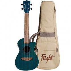 Flight Concert Ukulele DUC-380CEQ-Topaz