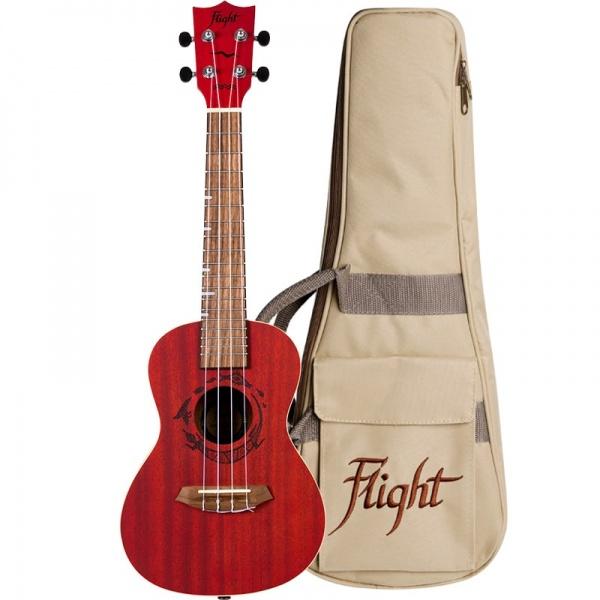 Flight Concert Ukulele NUC-380-Coral
