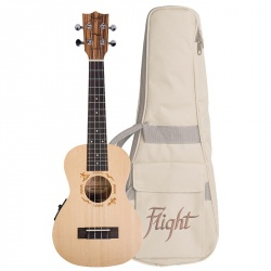 Flight Concert Electro-Acoustic Ukulele DUC-525-CEQ-SP-ZEB