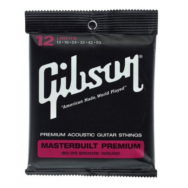 Gibson Acoustic Guitar Strings Set BRS12 (12-53)