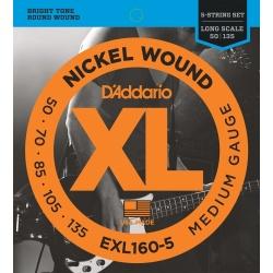 Daddario Bass Strings EXL160-5 (50-135)
