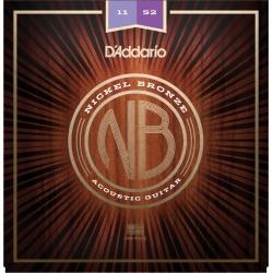 Acoustic Guitar Strings D'Addario NB1152 (11-52)