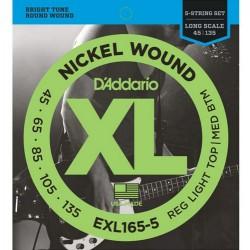 D'Addario Bass string set EXL165-5 (45-135)