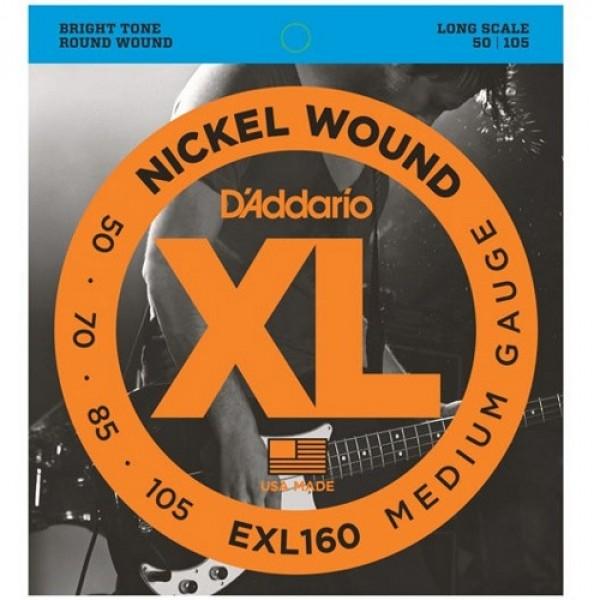 Bass Guitar Strings D'Addario EXL160 (50-105)