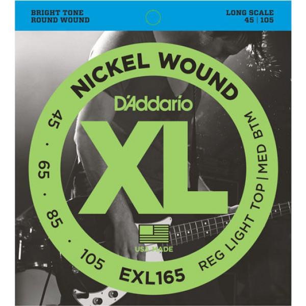 Bass Guitar Strings D'Addario EXL165 (45-105)