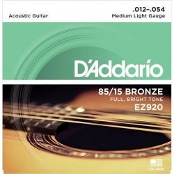 Akustiskās ģitāras stīgas EZ920 (12-54)