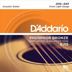 Akustiskās ģitāras stīgas EJ15 (10-47)