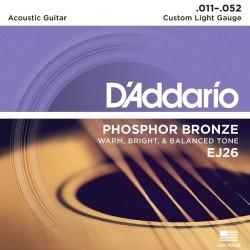 D'Addario Acoustic String Set EJ26 (11-52)