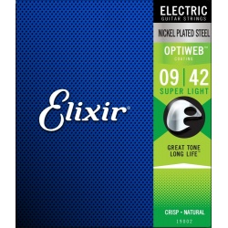 Electric Guitar Strings Elixir Optiweb 19002 (09-42)