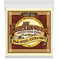 Ernie Ball Silk and Steel Acoustic Guitar Strings 2047 (10-50)