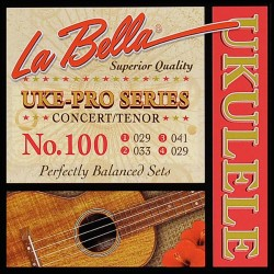 Concert / Tenor ukulele strings La Bella L-100