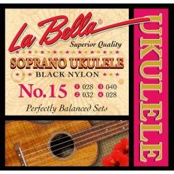 Soprāna ukuleles stīgas La Bella L-15
