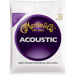 Akustiskās ģitāras stīgas Martin M175 (11-52)