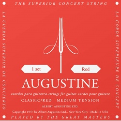 Augustine Classical Guitar Strings Red