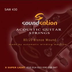 Akustiskās ģitāras stīgas SAW 430 (10-47)