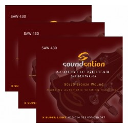 Acoustic Guitar String 3 Pack SAW 430-Pack (10-47)