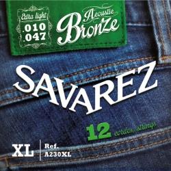 12 String Guitar Set Savarez A230XL (10-47)