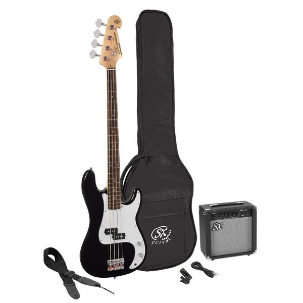 SX electric bass pack SB2SK-BK