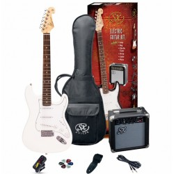 SX Electric Guitar Pack SE1SK-WT