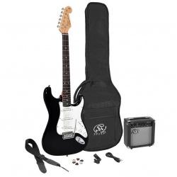 3/4 Elektriskās ģitāras komplekts SE1SK34-BK