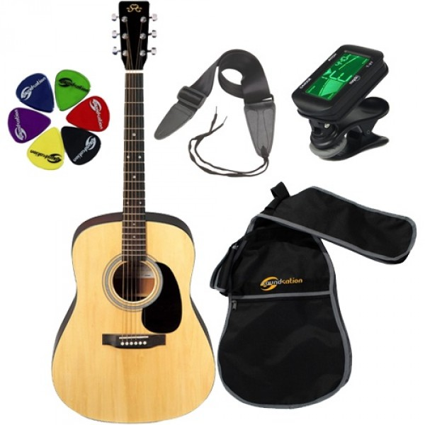 SX Acoustic Guitar Kit MD180NA KIT
