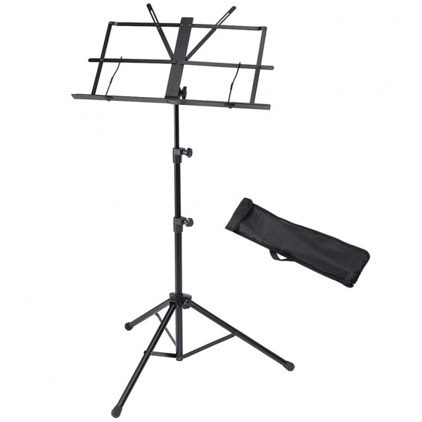 Music stand with bag SMS-420-BK