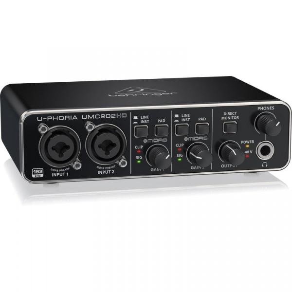 Behringer USB Audio Interface U-Phoria UMC202HD