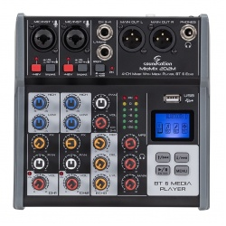 4-Channel Professional Mixer Miomix-202-M