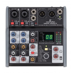 4-Channel Professional Mixer Miomix-202-UFX